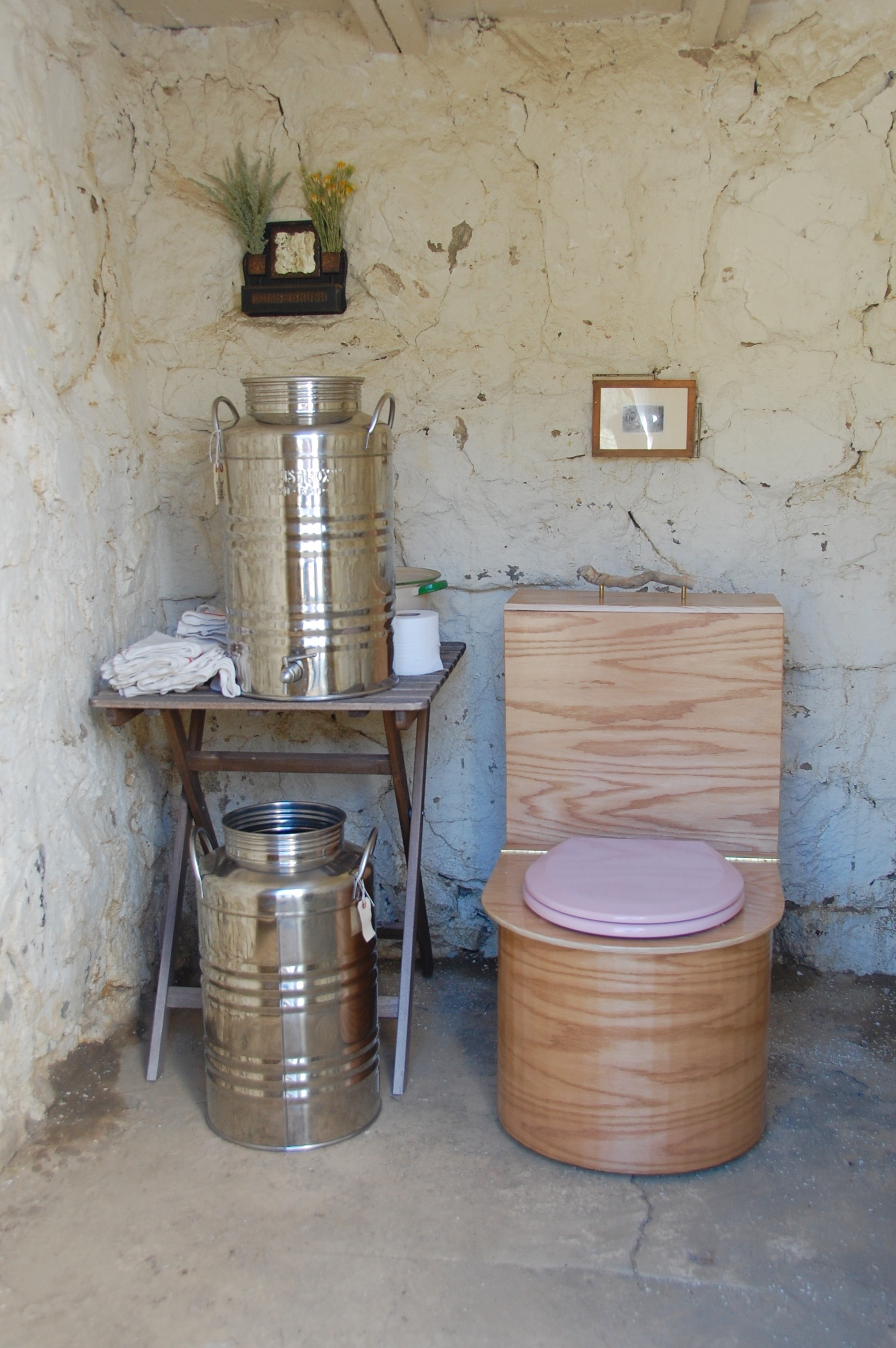 Components of a simple off grid bathroom. Off Grid Bathroom   Cabin Dweller s Textbook