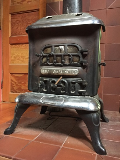 "Once a year, polish your cast-iron wood stove with ""stove polish."" Also  known as ""stove black,"" it's a simple graphite paste which is very easy to  apply: ... - Cast-Iron Wood Stove Care Cabin Dweller's Textbook"